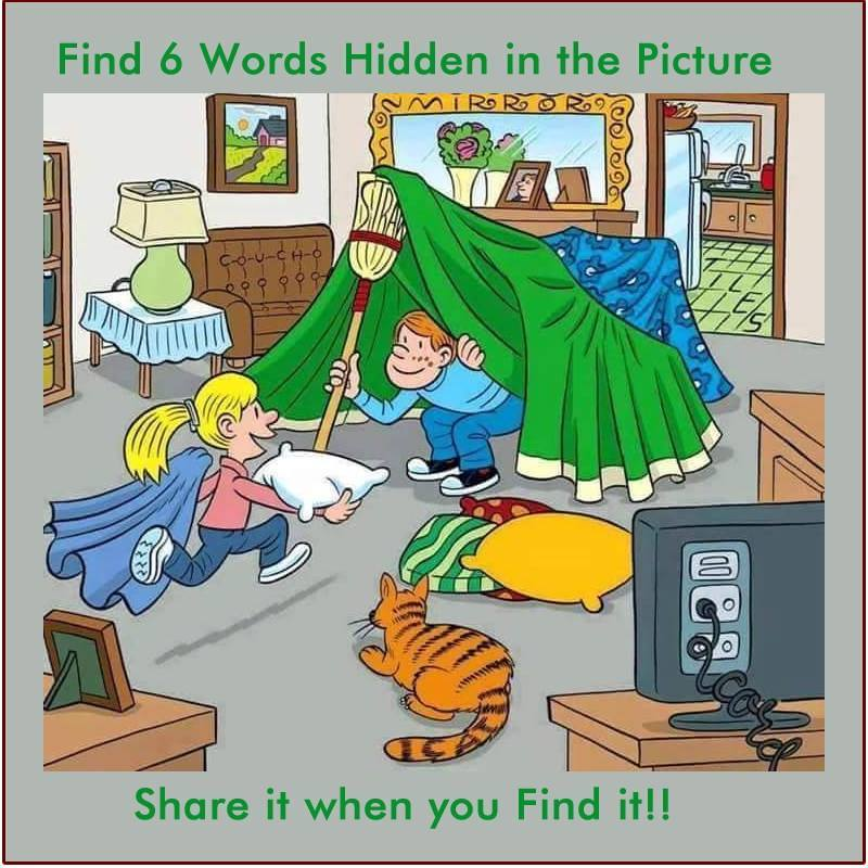 Find 6 Words Hidden in the Picture